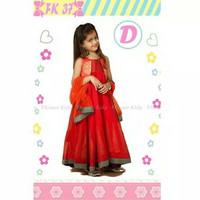 JUAL india baju anak perempuan import 7 8 9 10 11 12 tahun AGD3355
