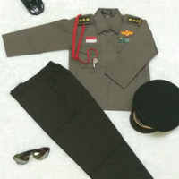 Baju Setelan Seragam Anak Profesi Polisi Cilik size 6-8