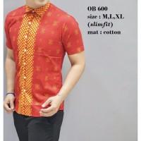 promo lebaran Baju Batik Oriental Pria Kemeja Fashion Imlek Lengan Pe