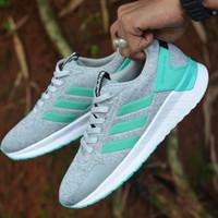 Sepatu sneakers casual running adidas questar ride abu tosca cewek