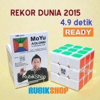Rubik 3x3 : Moyu Aolong V2 3x3x3 WORLD RECORD / REKOR DUNIA