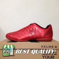 DribbleShop Sepatu Futsal Kelme Star 9 Red Black 5501-02 Original BNI