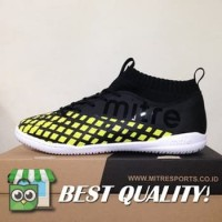 DribbleShop Sepatu Futsal Mitre Invader IN Black City Green T01040001