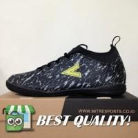 DribbleShop Sepatu Futsal Mitre Command IN Black City Green T01040011
