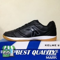 DribbleShop Sepatu Futsal Kelme K-Strong Black Negro 55787 Original B