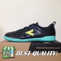 DribbleShop Sepatu Futsal Mitre Optimize IN Black Yellow Lite T010400