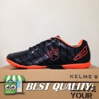 DribbleShop Sepatu Futsal Kelme Star 9 Black Orange 5501-03 Original