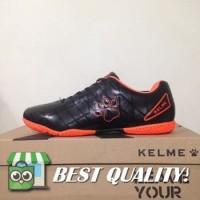 DribbleShop Sepatu Futsal Anak Kelme Star 9 Junior Black Orange 11152