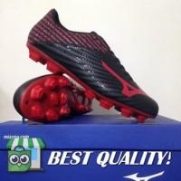 DribbleShop Sepatu Bola Mizuno Basara 103 MD Black High Red P1GA18646