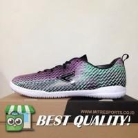 DribbleShop Sepatu Futsal Mitre Motion IN Tosca Alloy Black T01040018