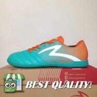 DribbleShop Sepatu Futsal Specs Equinox IN Comfrey Green Orange 40071