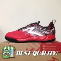 DribbleShop Sepatu Futsal Specs Metasala Warrior Premier Red Black 40