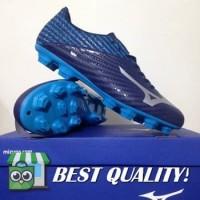 DribbleShop Sepatu Bola Mizuno Basara 103 MD Peacoat Blue Jewel P1GA1