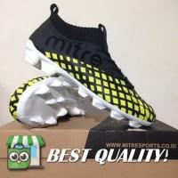 DribbleShop Sepatu Bola Mitre Invader FG Black City Green T01010001 O