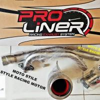 Knalpot PROLINER Type TR-1R Short Honda Sonic / Honda Supra GTR 150