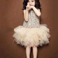 Tutu dress baju pesta anak baju import baju anak korea - 3-4 tahun