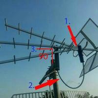 Antena tv ( titis ) TT 1000 + kabel antena 20 m + jack + klem kabel