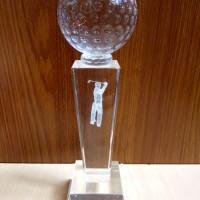 P26 Plakat kristal / Trophy Crystal kaca / Piala Golf / Piala Dunia