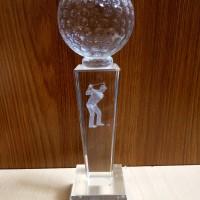 P25 Plakat kristal / Trophy Crystal kaca / Piala Golf / Piala Dunia
