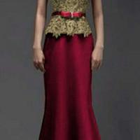 Dress maroon merah tua emas pagar ayu bridesmaid baju pesta