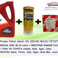 Paket Ganti Oli TOYOTA CALYA - MOBIL SPECIAL 20W-50 & Filter & Flush