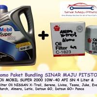 Paket Oli MOBIL SUPER 10W40 & Filter Oli DATSUN GO & GO+ PANCA & CROSS