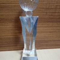 P48 Plakat kristal / Trophy Crystal kaca / Piala Golf / Piala Dunia