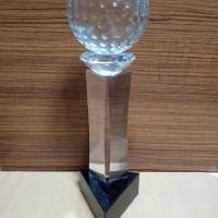 P55 Plakat kristal / Trophy Crystal kaca / Piala Golf / Piala Dunia