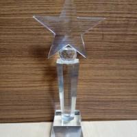P4 Plakat kristal / Trophy Crystal kaca / Piala Golf / Piala Dunia