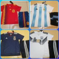 setelan anak 2-9thn baju bola soccer piala dunia 2018 futsal argentina