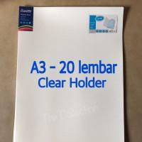ATK0547BX A3 20 lembar Clear Holder Bantex Display Book 3163 Plastik