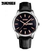 Jam Tangan Pria SKMEI 9125 (Leather) Original - Hitam