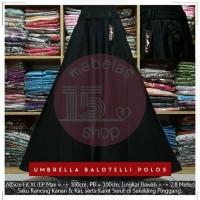 Rok Payung Balotelli Karet Lebar Polos Panjang Maxi Skirt Hitam