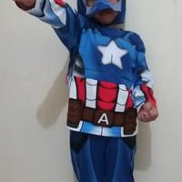 Kostum captain america/ baju anak captain america - 2-3 tahun