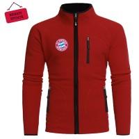 Jaket Hoodie Tersedia 3 Warna Nyaman, tidak Panas Logo Bayern Munchen