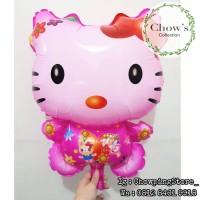 Balon Plastik Hello Kitty / Balon karakter Hello Kitty Pink