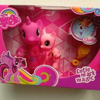 Mainan action figure little pony kuda poni kecil set 2pc aksesoris
