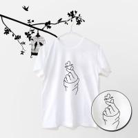 Tumblr Tee / T-Shirt / Kaos Wanita Lengan Pendek Sarang Warna Putih