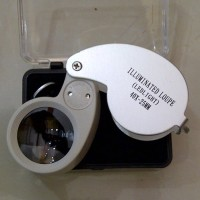 Loupe 40X Zoom LED Light Kaca Pembesar Magnifier Mikroskop Microscope