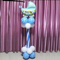 Balon Foil stroller baby boy - balon baby shower - balon kereta bayi