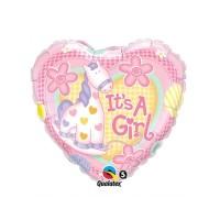 It's a Girl Pink Giraffe Heart Balloon / Balon Foil Baby Shower