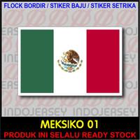 Patch Badge Flock BORDIR BENDERA - MEKSIKO MEXICO [01]