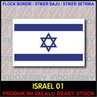 Patch Badge Flock BORDIR BENDERA - ISRAEL [01]
