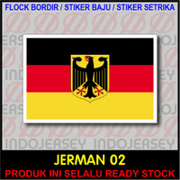 Patch Badge Flock BORDIR BENDERA - JERMAN / GERMANY [02]
