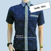 batik cap baju batik kombinasi pria batik pekalongan untuk anak muda