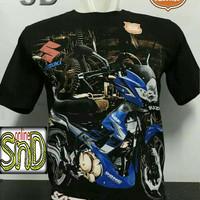Baju Kaos Hitam Motor Suzuki Satria Fu F150 Pria Wanita Cewek Cowok