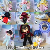 PO Baby Climbing Clothes [Pakaian Baju set Obitsu 11 OB11 BJD 1/12]