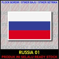 Patch Badge Flock BORDIR BENDERA - RUSIA / RUSSIA [01]