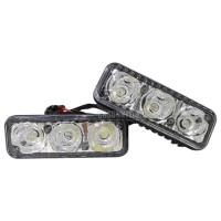 LAMPU LE DRL 3 TITIK WATERPROOF 2pcs Lampu Mobil LED Anti Air Car Ligh