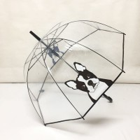 Payung tongkat transparan mangkok anjing kucing - 75002